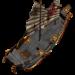 ブリタニア船を塗装しようとする
